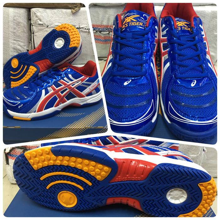 Jual Sepatu Voli   Volly Asics Tiger Blue - Panda accecories  4df9f20b2f