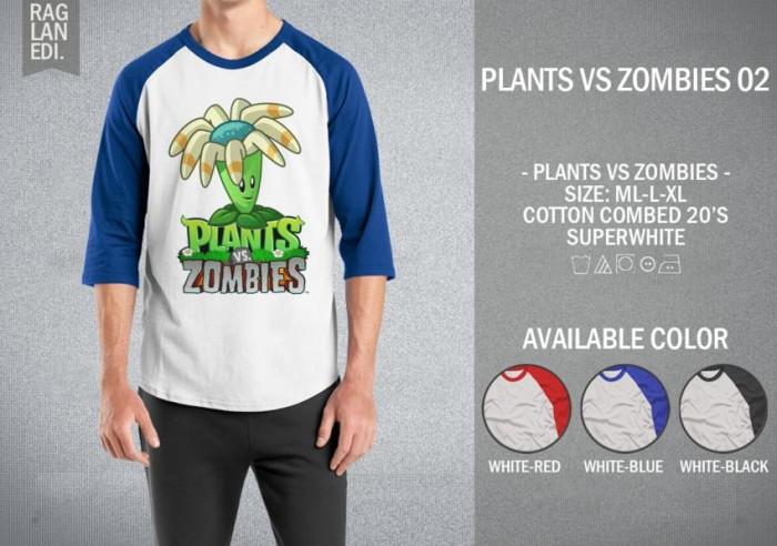 harga Kaos plants vs zombies 02 t-shirt raglan distro game plant zombie Tokopedia.com
