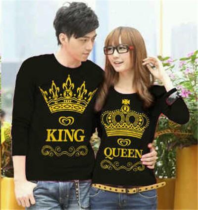 harga Kaos couple king queen lp (hitam) Tokopedia.com