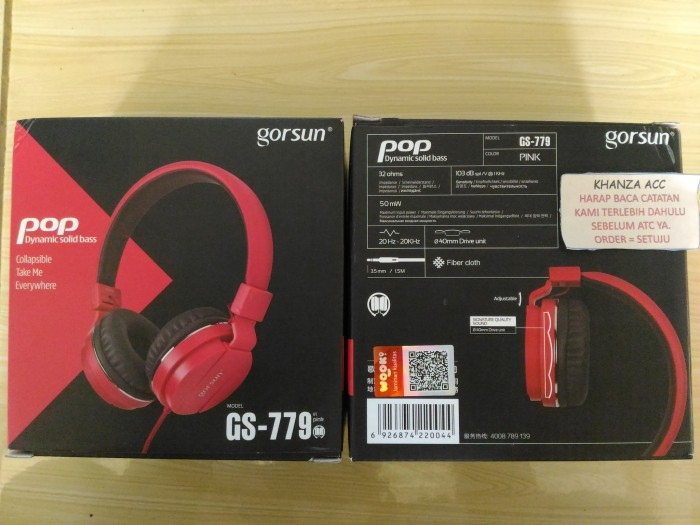 Vivan Gorsun GS-779 3.5mm Foldable Wired Stereo Headset Red