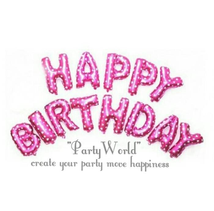 Jual Balon Foil Happy Birthday Pink Party World Tokopedia