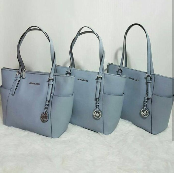 bde03a796466 Jual JUAL TAS MICHAEL KORS JET SET MEDIUM MISTIK BLUE ORIGINAL ASLI ...