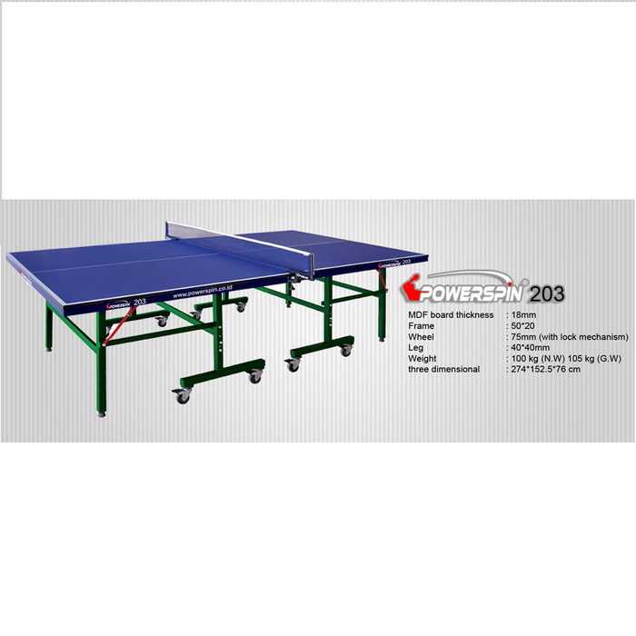 harga Meja pingpong / tenis meja powerspin 203 Tokopedia.com