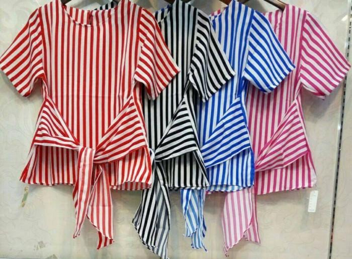 Foto Produk Blouse Stripe Grosir - code NF dari LaPelosa Shop