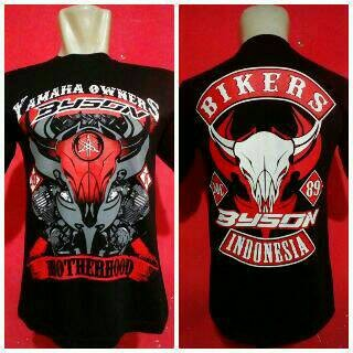 harga T-shirt / kaos bikers yamaha byson ( bonus stiker byson perkaos ) Tokopedia.com