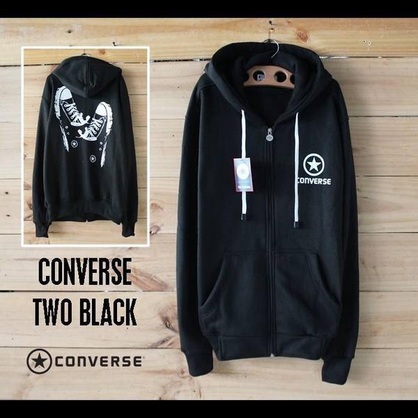 harga Jaket fleece / sweater / jaket converse shoes black Tokopedia.com