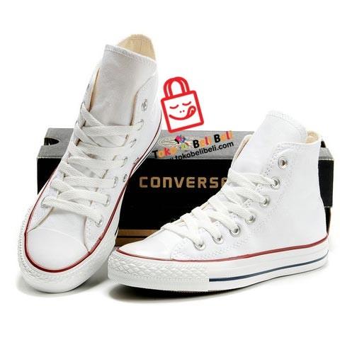 Jual Sepatu Converse All Star High Putih  aff50b752b