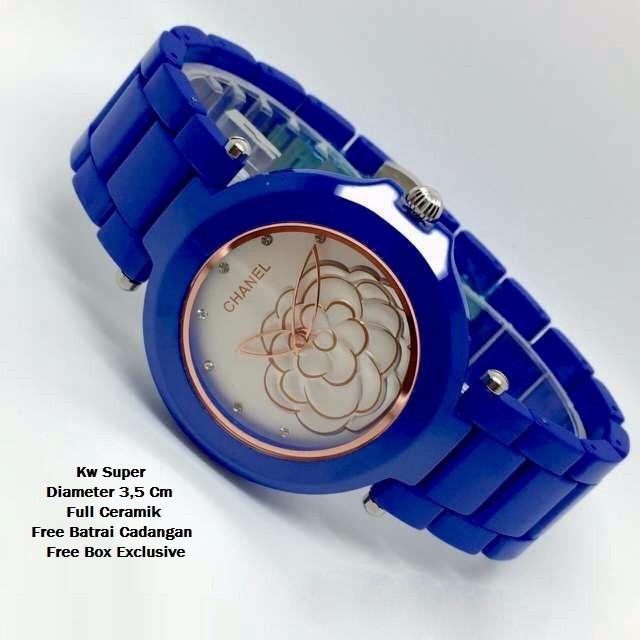 harga Jam tangan wanita chanel keramik / ceramic blue Tokopedia.com