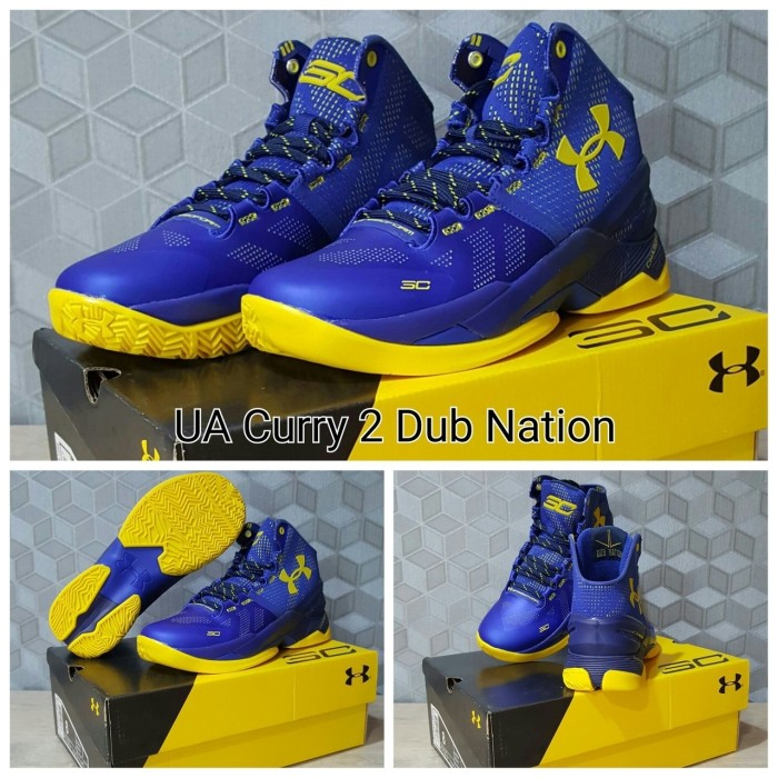 Jual Sepatu Basket Under Armour Curry Two High Dubnation Blue ... 475ad001d6