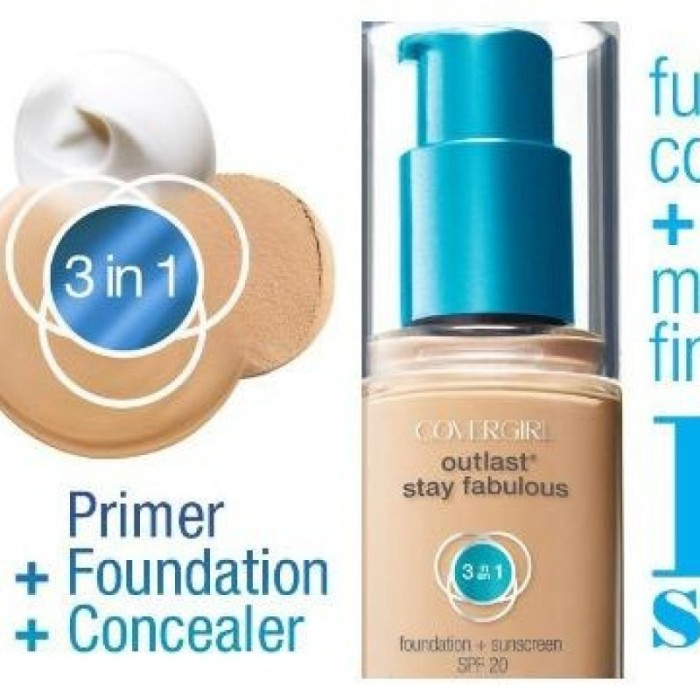 harga Covergirl outlast stay fabulous 3-in-1 foundation(nude beige Tokopedia.com