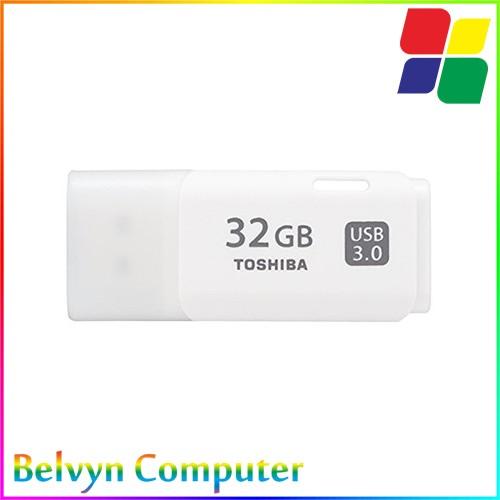 Original Toshiba 32GB USB 3.0 Flash Disk Drive - White Flashdisk - Putih