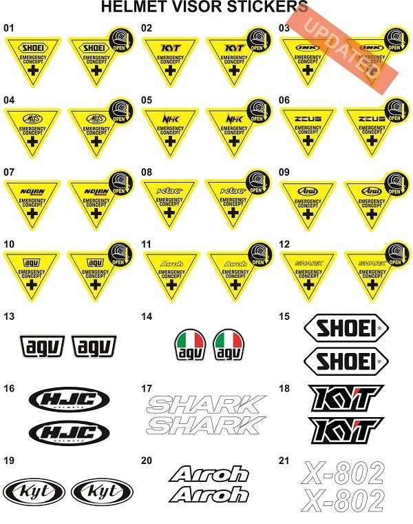 harga Sticker/stiker visor helm (kyt,ink,mds,agv,shoei,zeus,airoh,shark,kbc) Tokopedia.com