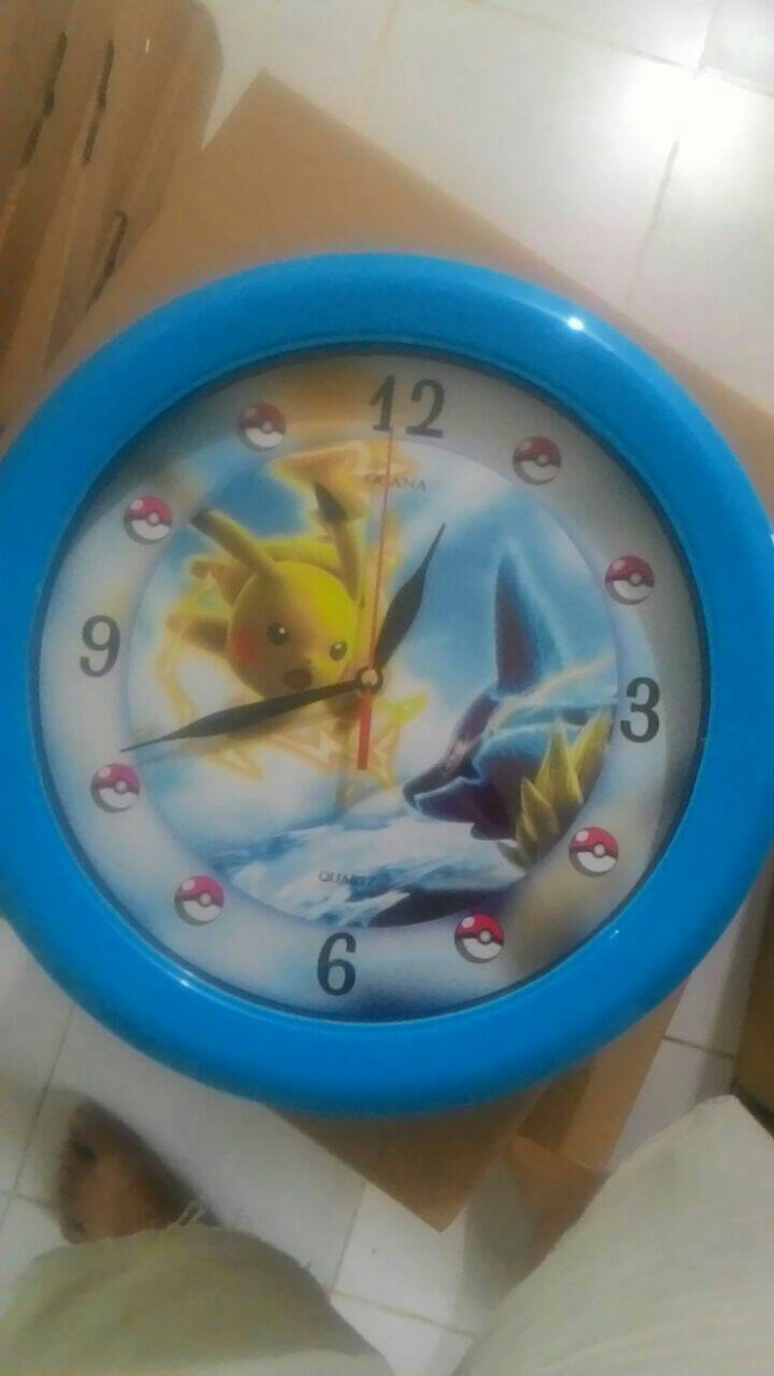 ... Jam Dinding Pokemon Pikachu