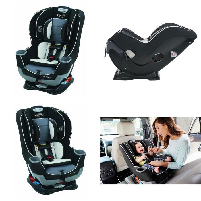 Graco Extend2Fit Convertible Car Seat 8AQ006OT Gotham
