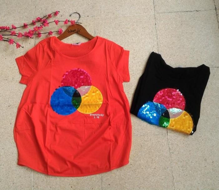 harga Baju import big size jumbo cewe/ kaos ttgr korea brukat bangkok polos Tokopedia.com