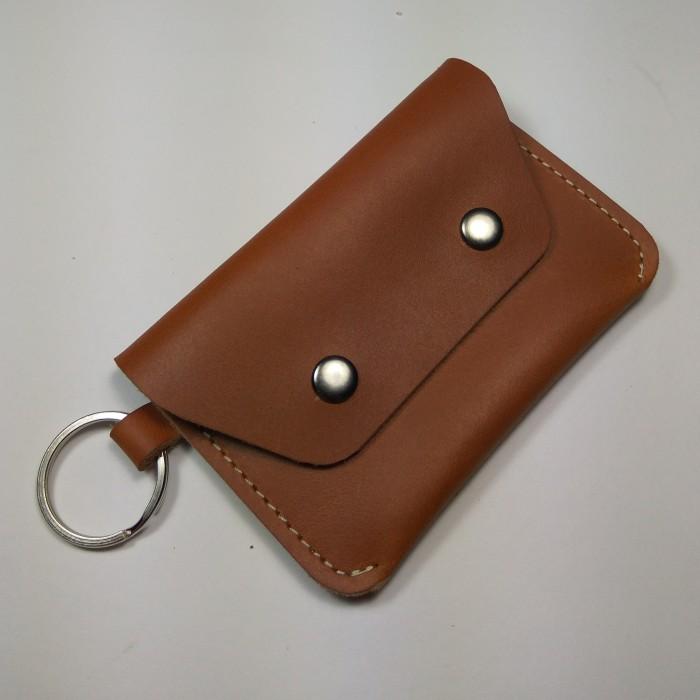Foto Produk Dompet STNK kulit sapi asli | gantungan kunci mobil motor warna tan dari philo