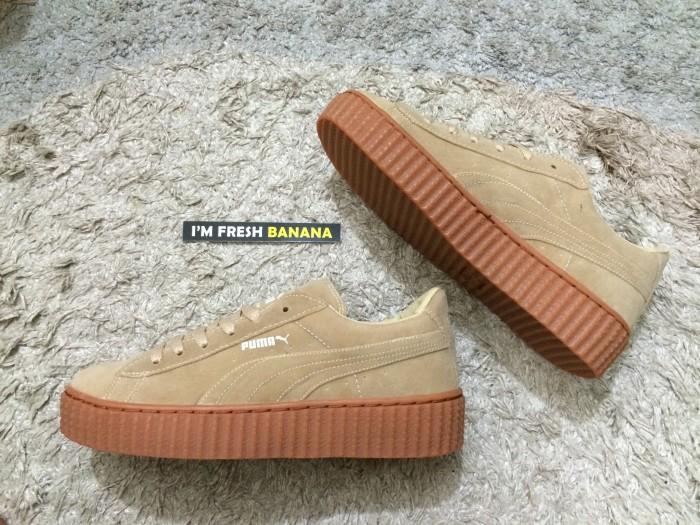 buy popular 27c5a 625ce Jual Sepatu Puma Rihanna Rihana X By Creeper Creepers Fenty Brown Tan Gum -  Jakarta Selatan - Fresh Banana | Tokopedia