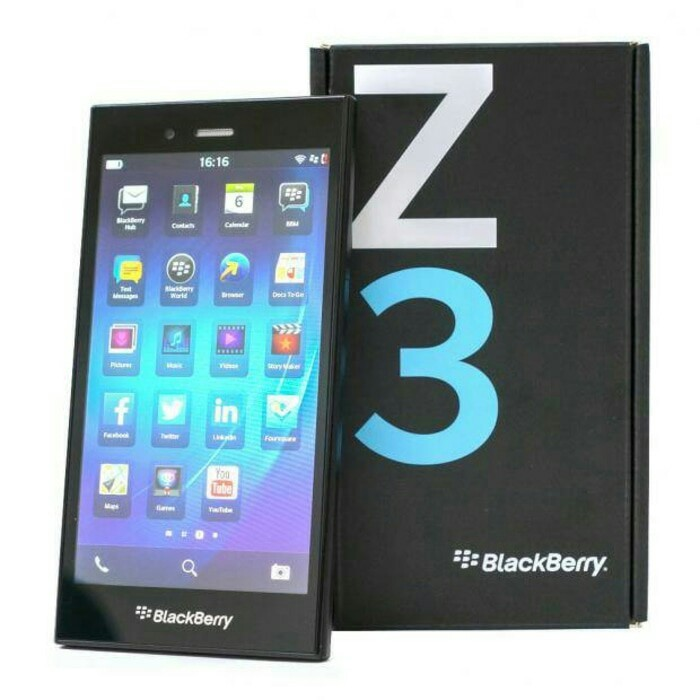 Blackberry Z3 Jakarta Black - Garansi Distributor 2 Thn