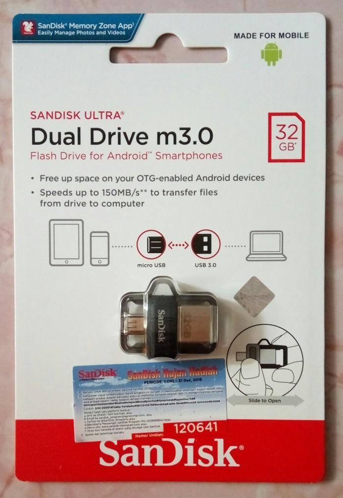 FLASHDISK OTG 32GB SANDISK M3.0 USB DUALDRIVE ORIGINAL GARANSI RESMI