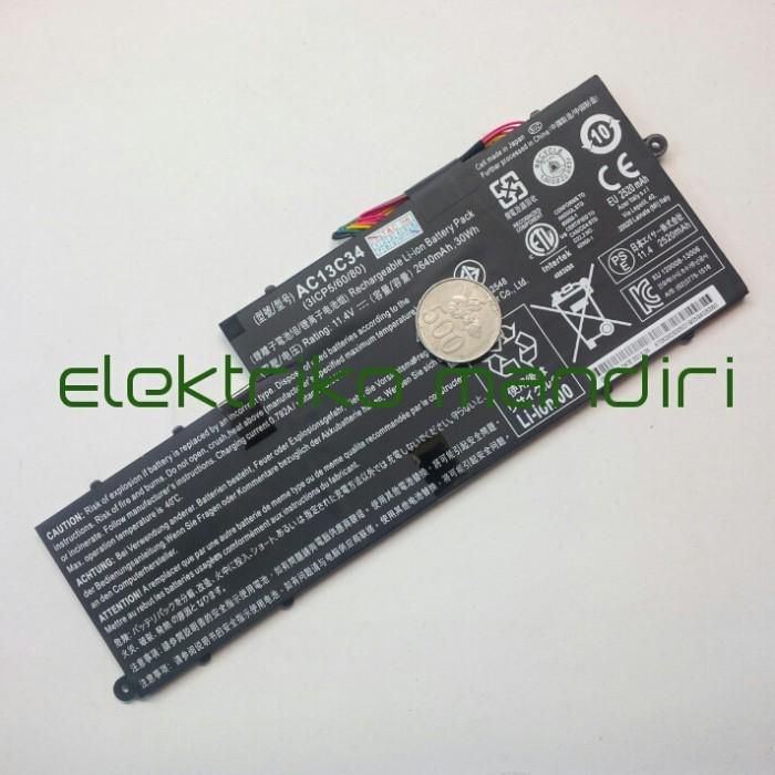 Baterai Acer Aspire V5 122 122P 132 E 11 E3 111 112 AC13C34