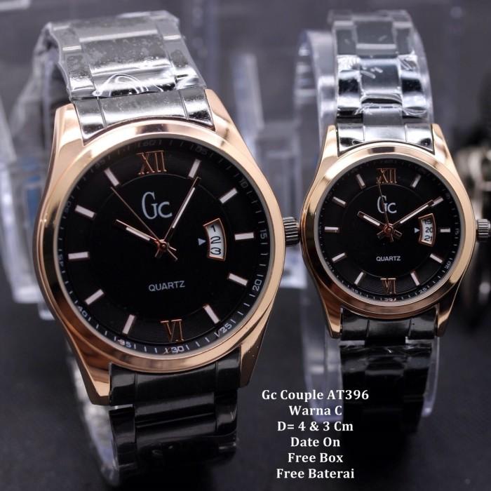 Jual Jam Tangan Pasangan   Couple Murah Gc Sarbella Black Gold Color ... 40e3548856