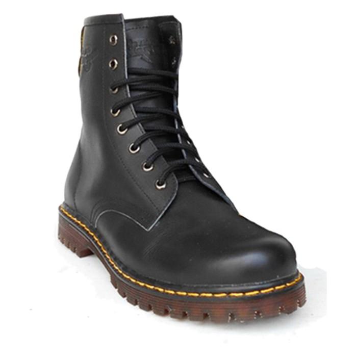 Dbest Kudastore Sepatu Boots Docmart Pria 8 Lubang - Hitam