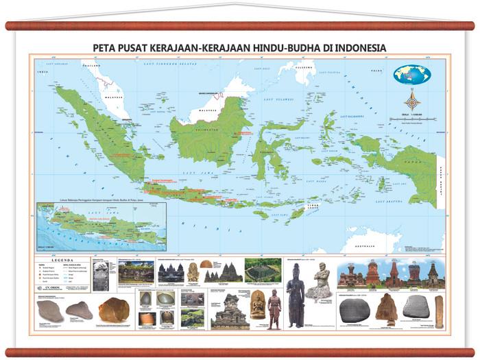 Jual Peta Pusat Kerajaan Kerajaan Hindu Budha Di Indonesia Kab Sidoarjo Cv Orion Tokopedia