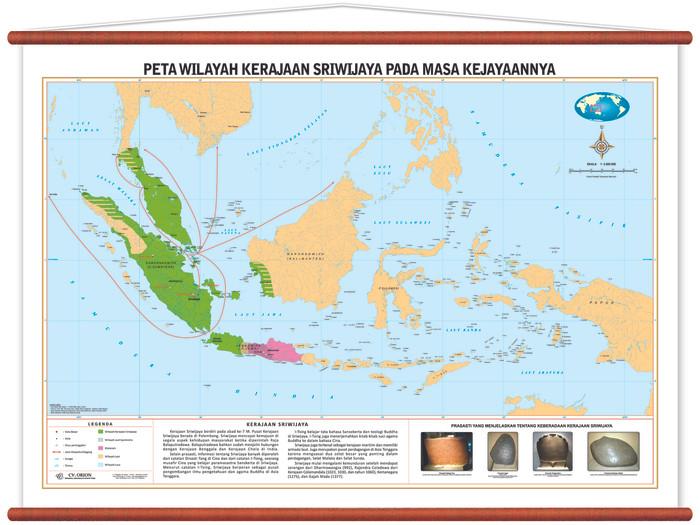 Jual Peta Wilayah Kerajaan Sriwijaya Pada Masa Kejayaannya Kab Sidoarjo Cv Orion Tokopedia