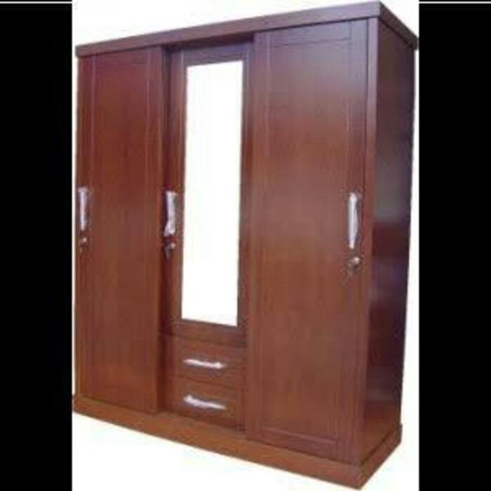 Jual lemari pintu 2 plus kaca cermin jati - Jakarta Timur ...