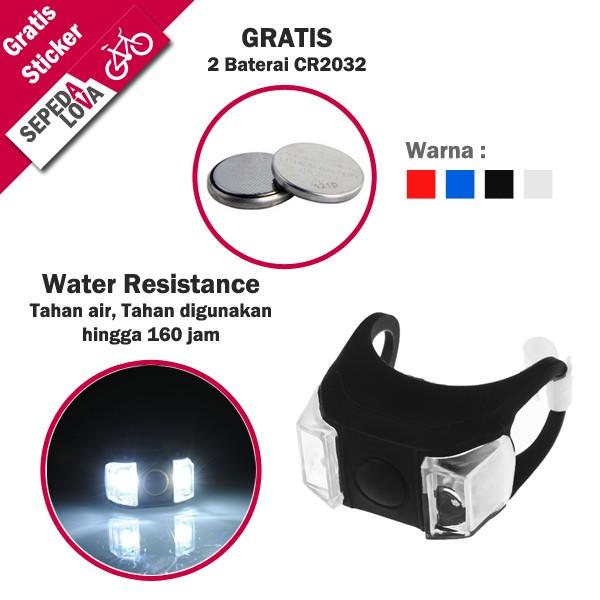 harga Lampu silicon sepeda depan belakang water resistance - hitam Tokopedia.com