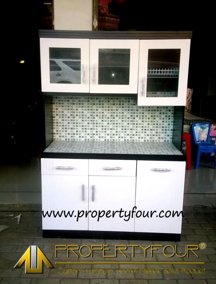 Jual rak piring kitchen set sederhana lemari dapur for Ukuran rak piring kitchen set