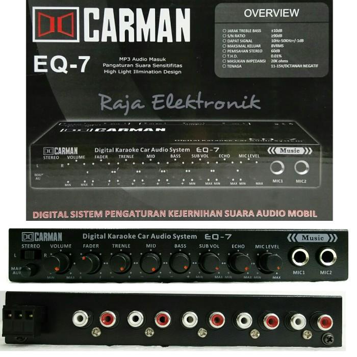 Jual Parametric Equalizer Mobil Pre Amp Carman Eq 7 Cek Harga Di Pricearea Com