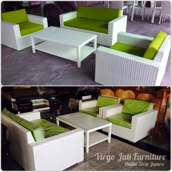 Jual Kursi Tamu Sofa Rotan Sintetis Minimalis Modern Kab Jepara