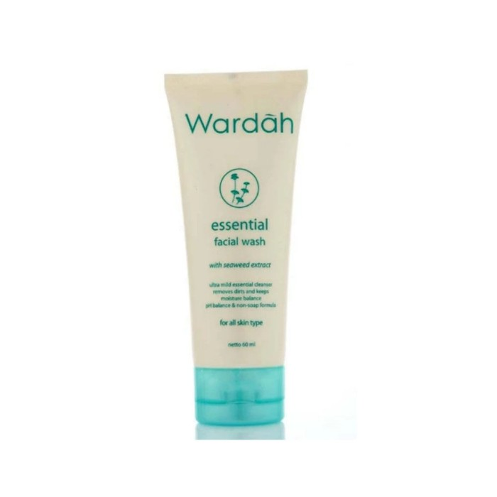 Wardah Essential Facial Wash with Seaweed Extract - 60 ml