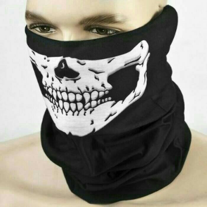 harga Masker buf tengkorak / bandana motor / skull mask / anti debu Tokopedia.com