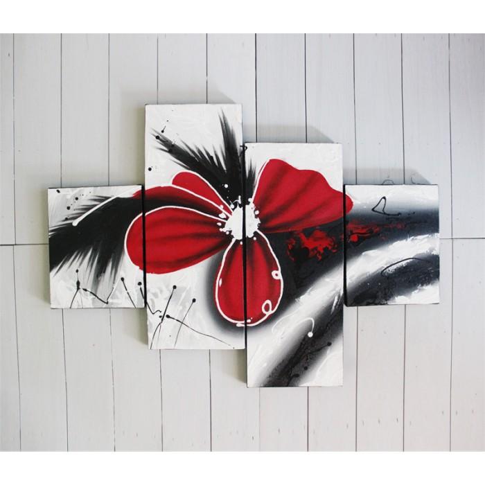 harga Lukisan minimalis bunga abstrak merah Tokopedia.com