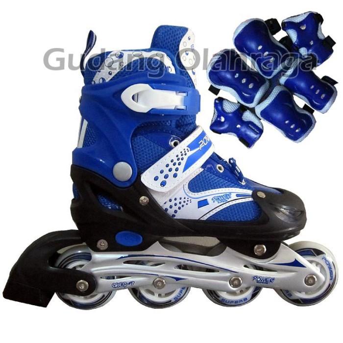 Jual Sepatu Roda HARGA GROSIR !! Inline Skate Warna Merah  amp  Biru ... f7849b0287