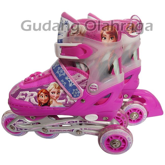 ... harga Sepatu roda frozen model bajaj   inline skate frozen light pink  mu5ao Tokopedia.com 357af84fbe