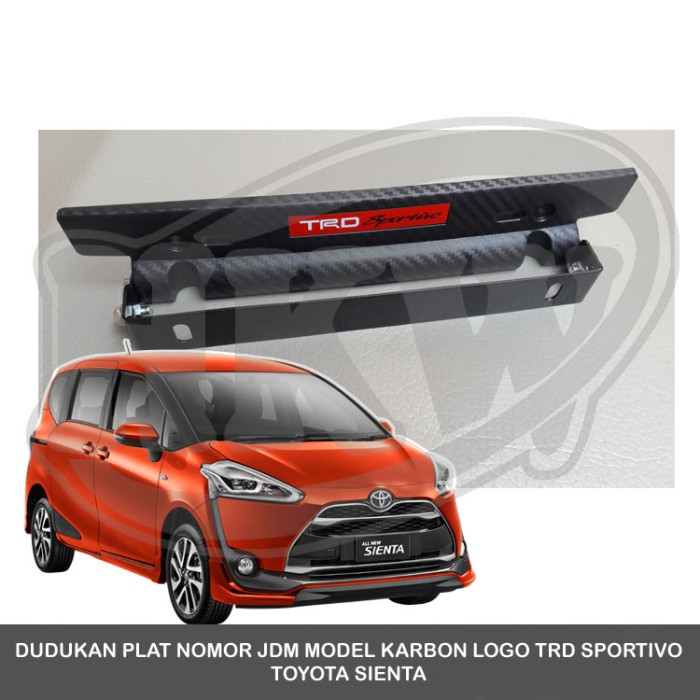 harga Dudukan plat nomor jdm model karbon logo trd sportivo toyota sienta Tokopedia.com