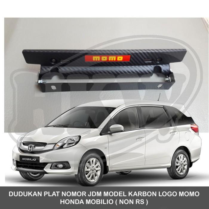 Jual Dudukan Plat Nomor Jdm Model Karbon Logo Momo Honda Mobilio Non