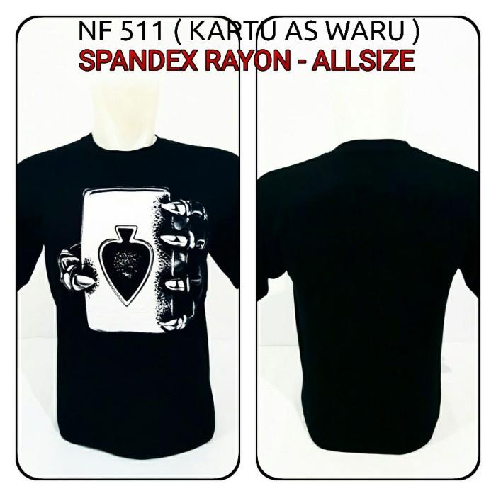 harga Kaos 3d Kartu As Waru Spandex Hitam Baju Distro T Shirt Tokopedia.com