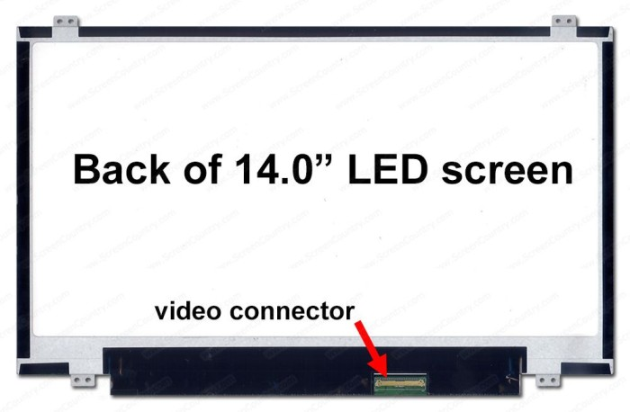 harga Lcd led 140 slim 40 pin untuk laptop acer asus toshiba hp compaq dell Tokopedia.com