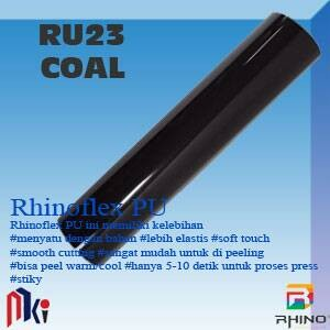 harga 50x50cm polyflex korea / poly flex / rhino flex pu hitam muda - coal Tokopedia.com