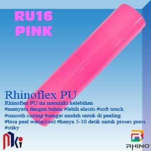harga 50x50cm polyflex korea / poly flex / rhino flex pu merah muda - pink Tokopedia.com