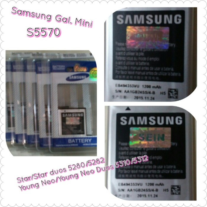 harga For samsung galaxy star duos 5282 original zein battery/baterai/batere Tokopedia.com