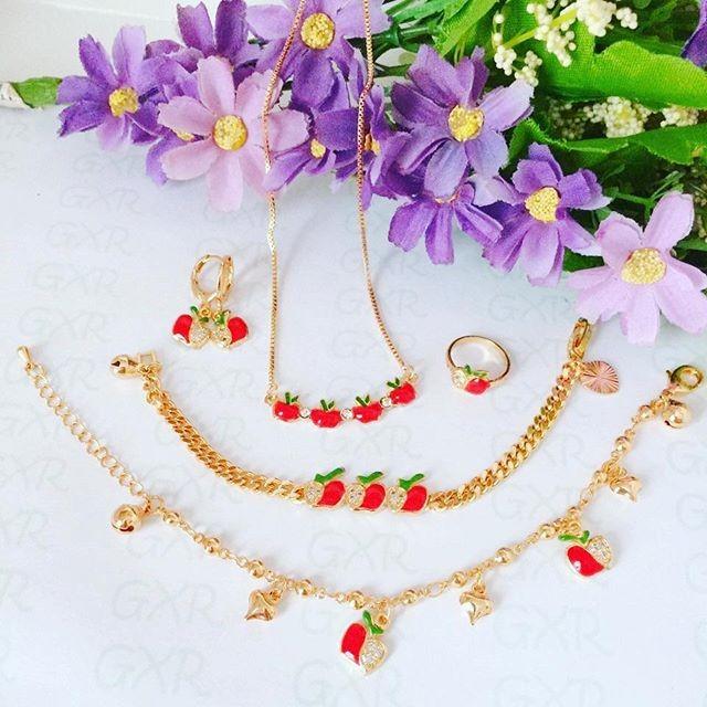 Set Perhiasan xuping lapis emas 18k anak apel