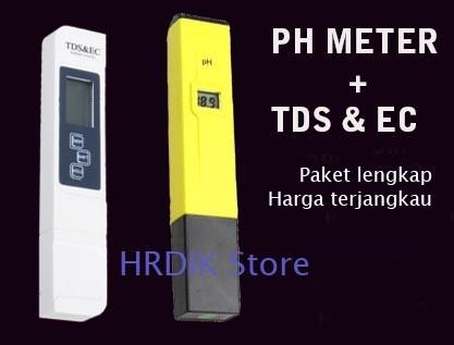Jual Tds Amp Ec Meter Dan Ph Tester Paket Hidroponik Analisa