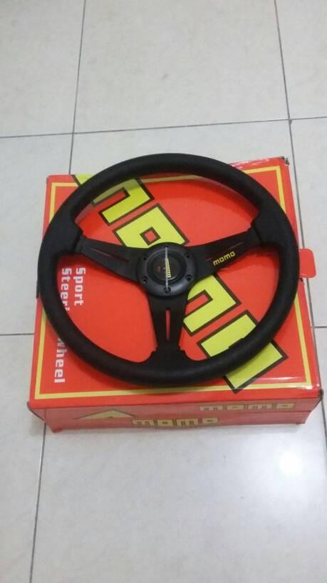 harga Stir racing momo hitam uk 14 Tokopedia.com