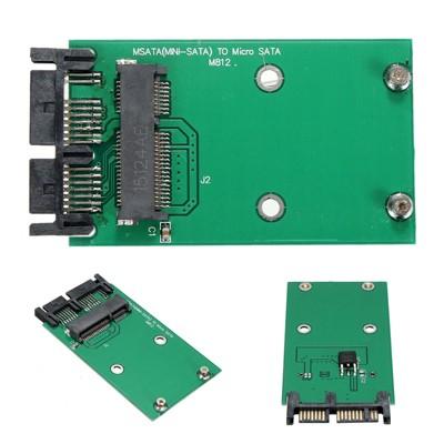 Mini SATA mSATA SSD to 2.5 SATA HDD Case Converter Adapter for Intel 310 Series
