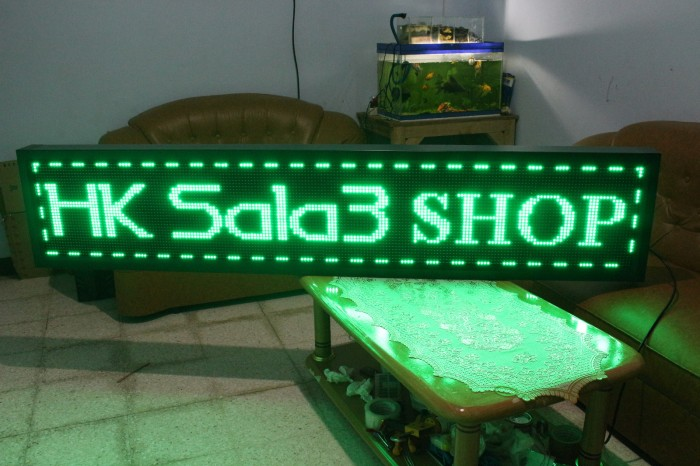 harga Running text outdoor 40cm x 200cm led hijau wifi + usb Tokopedia.com